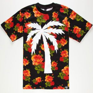 CONCEPT. all over + graphic hole T-shirt