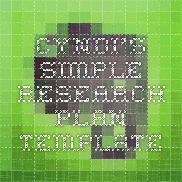 Cyndiu0027s Simple Research Plan Template Genealogy on Evernote - research plan template