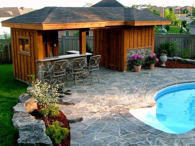 Small Pool Cabana | Ideas for the House | Pinterest | Pool cabana ...