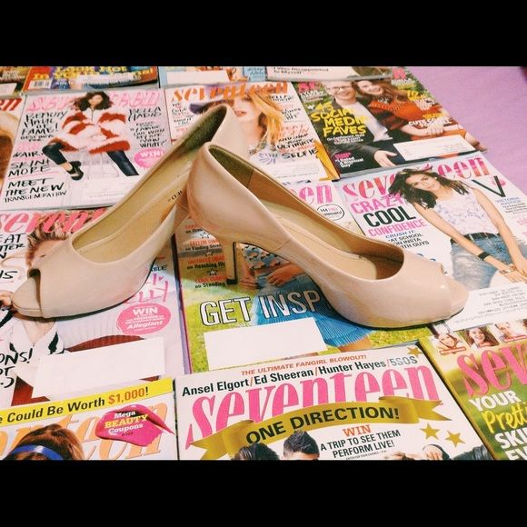 3d547888f4b Cute nude peep toe heel 2-3 in heel very comfortable if you don