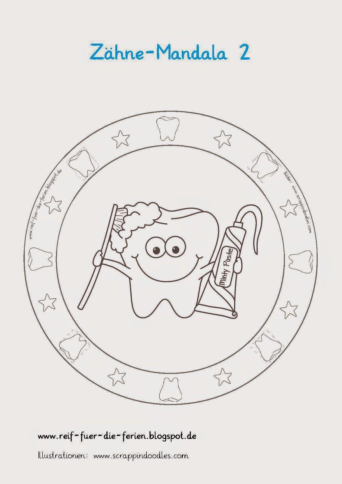 Zähne-Mandalas | Material 1. Klasse | Pinterest | Zahn, Schule und ...