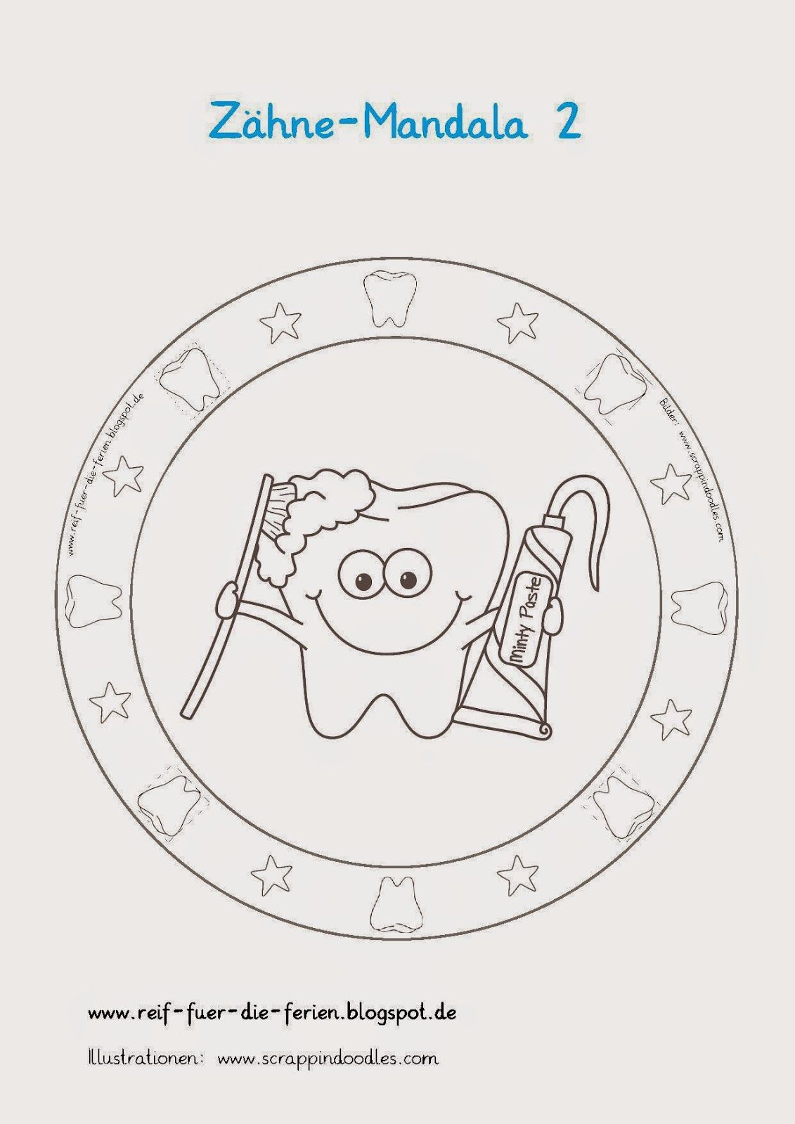 Zähne-Mandalas | Material 1. Klasse | Pinterest | Kindergarten ...