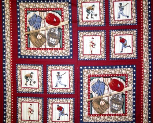 Baseball Fabric Baseball Pillow Panel Fabric by thebusybeequilting ... : baseball fabric for quilting - Adamdwight.com