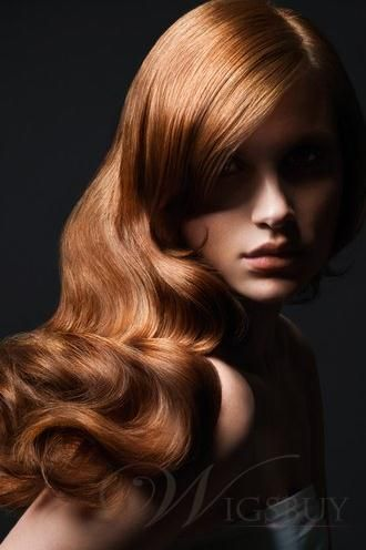 Luxury Charming Latest Long Wavy Lace Wig 100% Real Human Hair About 20 Inches  $248.99  Save: 69% off
