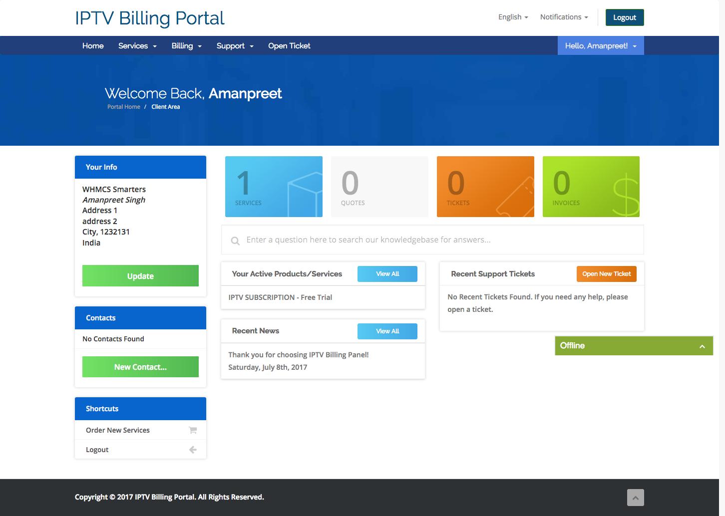 smart iptv billing system for xtream codes v3 smart iptv billing
