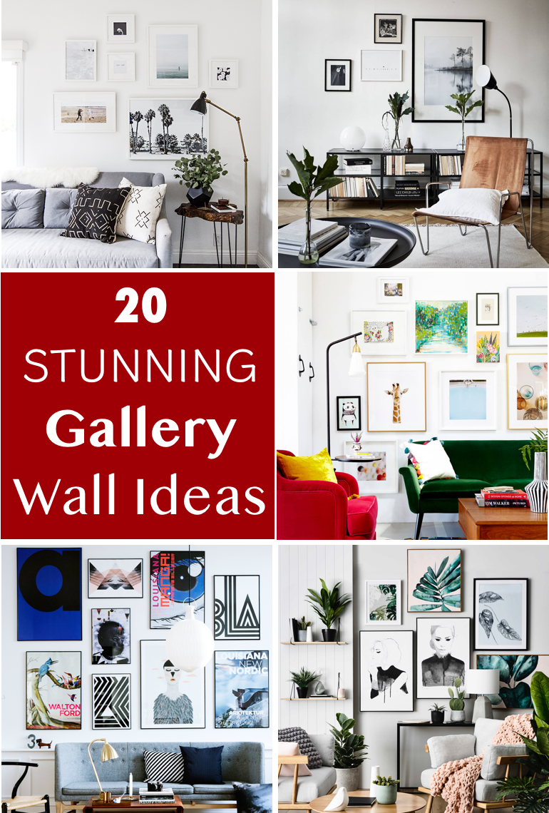 20 Gallery Wall Ideas To Create A Focal Point In Any Room Gallery Wall Wall Decor Design Amber Interiors Design