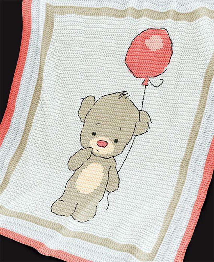 CROCHET Baby Blanket / Afghan pattern. Baby Bear Crochet pattern by ...