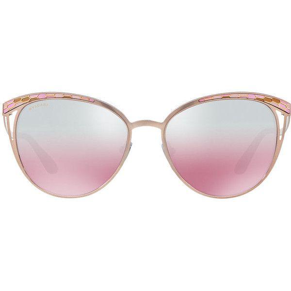 Bvlgari Brown Round Sunglasses - bv6083 ( 370) ❤ liked on Polyvore  featuring accessories, eyewear, sunglasses, bulgari sunglasses, bulgari, ... 6f1dc37083