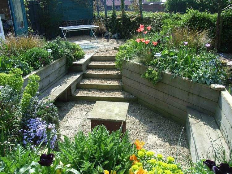 am nagement jardin sur plusieurs niveaux 18 id es magnifiques petits jardins pinterest. Black Bedroom Furniture Sets. Home Design Ideas