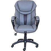 Dormeo Espo Octaspring Faux Leather Managers Office Chair Gray 47055 Staples Grey Leather Chair Office Chair Chair