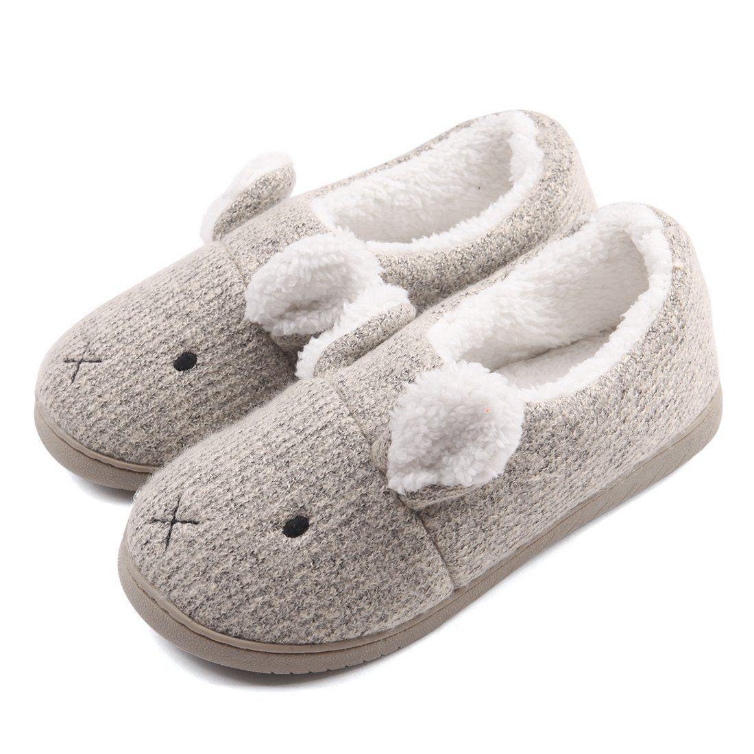 Amazon Com Neeseelily Women Comfort Plush Cozy Home Slippers Animal Non Slip Indoor Shoes Slippers Animal Slippers Indoor Shoes Slippers House Slippers