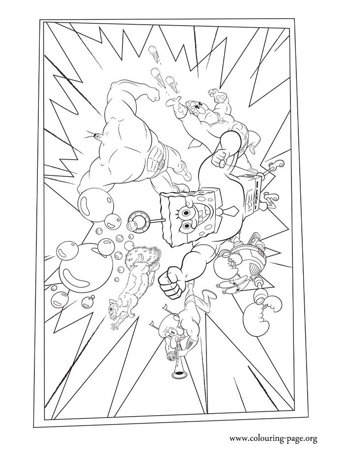 Colouring Pages Inside Out : Print and color this amazing the spongebob movie coloring page