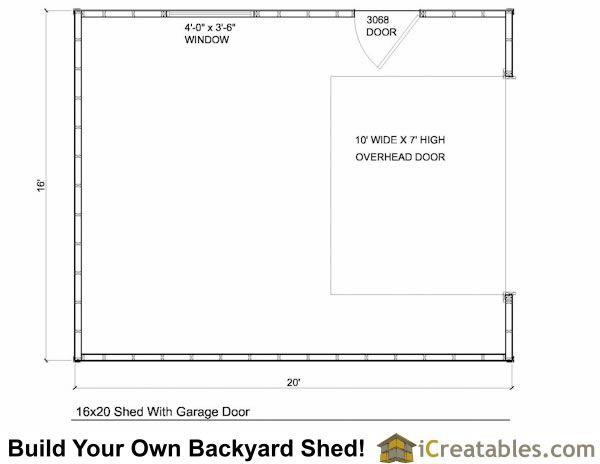 16x24 shed with garage door floor plan Tiny Casa – 16X24 Garage Plans