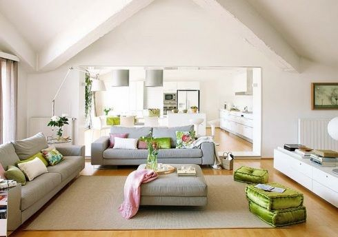 cosy comfy living room . . . I LOVE these floor cushions!