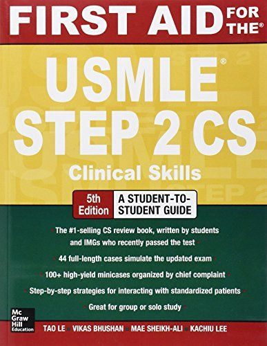 First aid for the usmle step 2 cs by tao le httpssmileazon first aid for the usmle step 2 cs by tao le httpssmile fandeluxe Gallery
