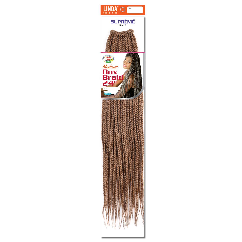 Supreme Hair Box Braids 24 Inch Crochet Hair Strawberry Blond Crochet Hair In 2020 Box Braids Crochet Hair Styles Crotchet Box Braids