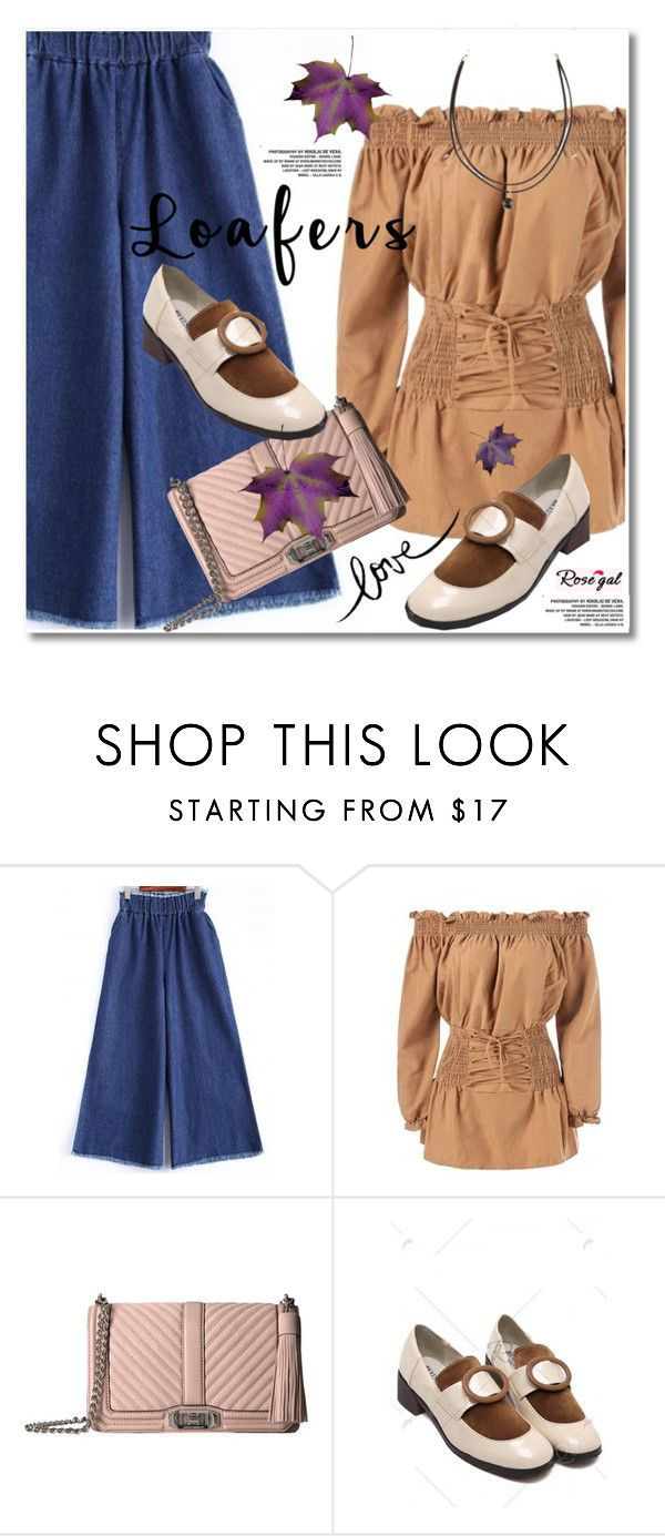 """Rosegal"" by svijetlana ❤ liked on Polyvore featuring Rebecca Minkoff, Once Upon a Time, loafers and polyvoreeditorial"