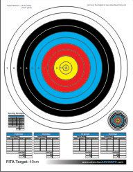 photo about Printable Archery Targets titled Appreciate the free of charge printable goals in this article in the direction of support hone your