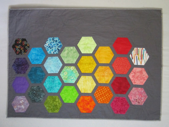 Big Bold BABY HEXAGONS Quilt Pattern from Quilts by Elena : big and bold quilt pattern - Adamdwight.com
