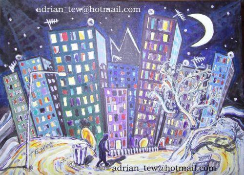 T3W-unlist3d-dipinto-originale-034-NOTTE-City-034-12-034-x-16-034