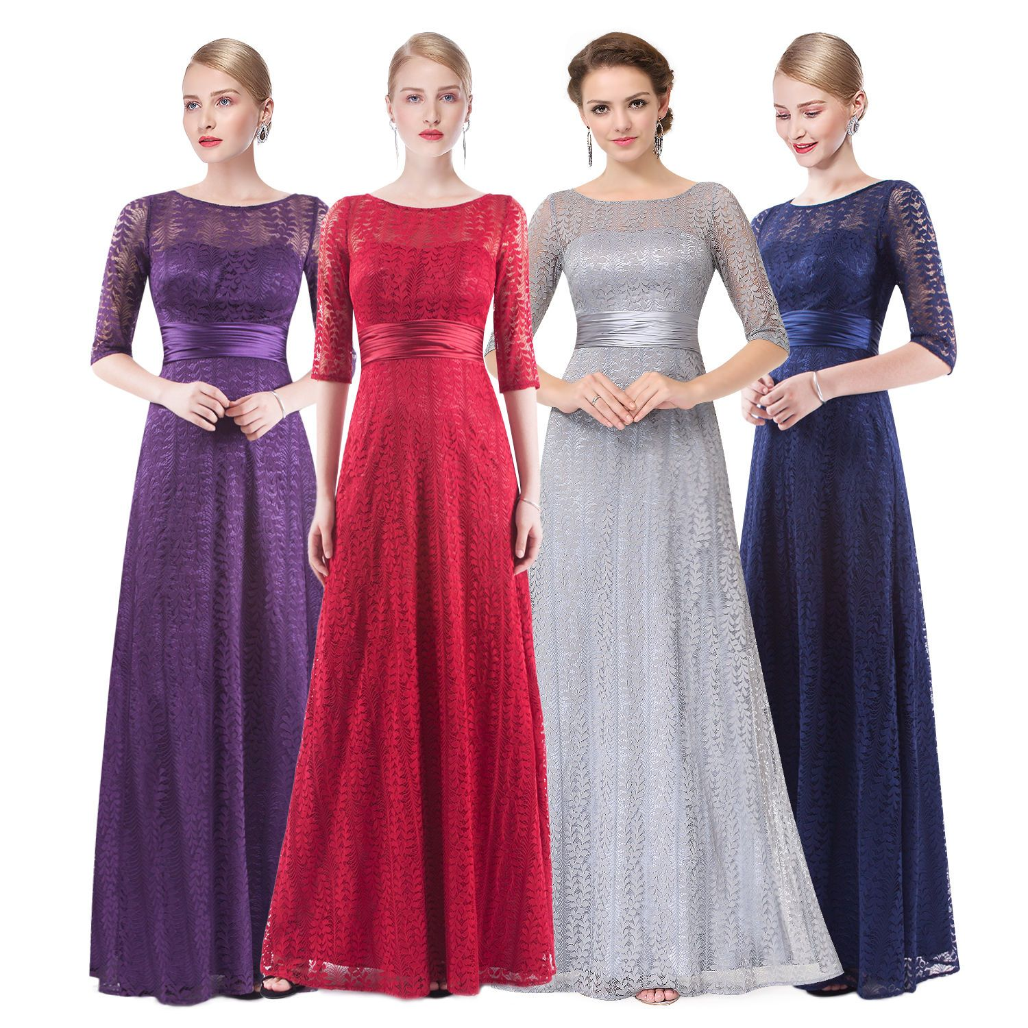 Nice long mother of the bride dreses evening formal party prom gown