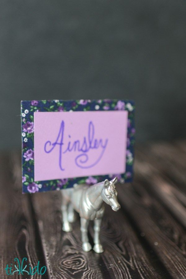 Turn Dollar Store Toys into Classy Seating Cards Seating cards and