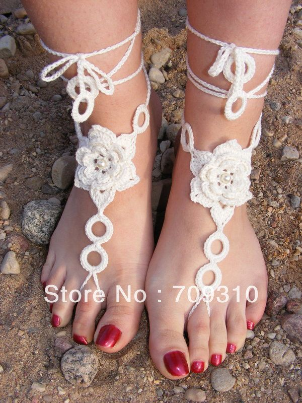 Free Shipping Crochet Barefoot Sandals Anklet Barefoot Sandals