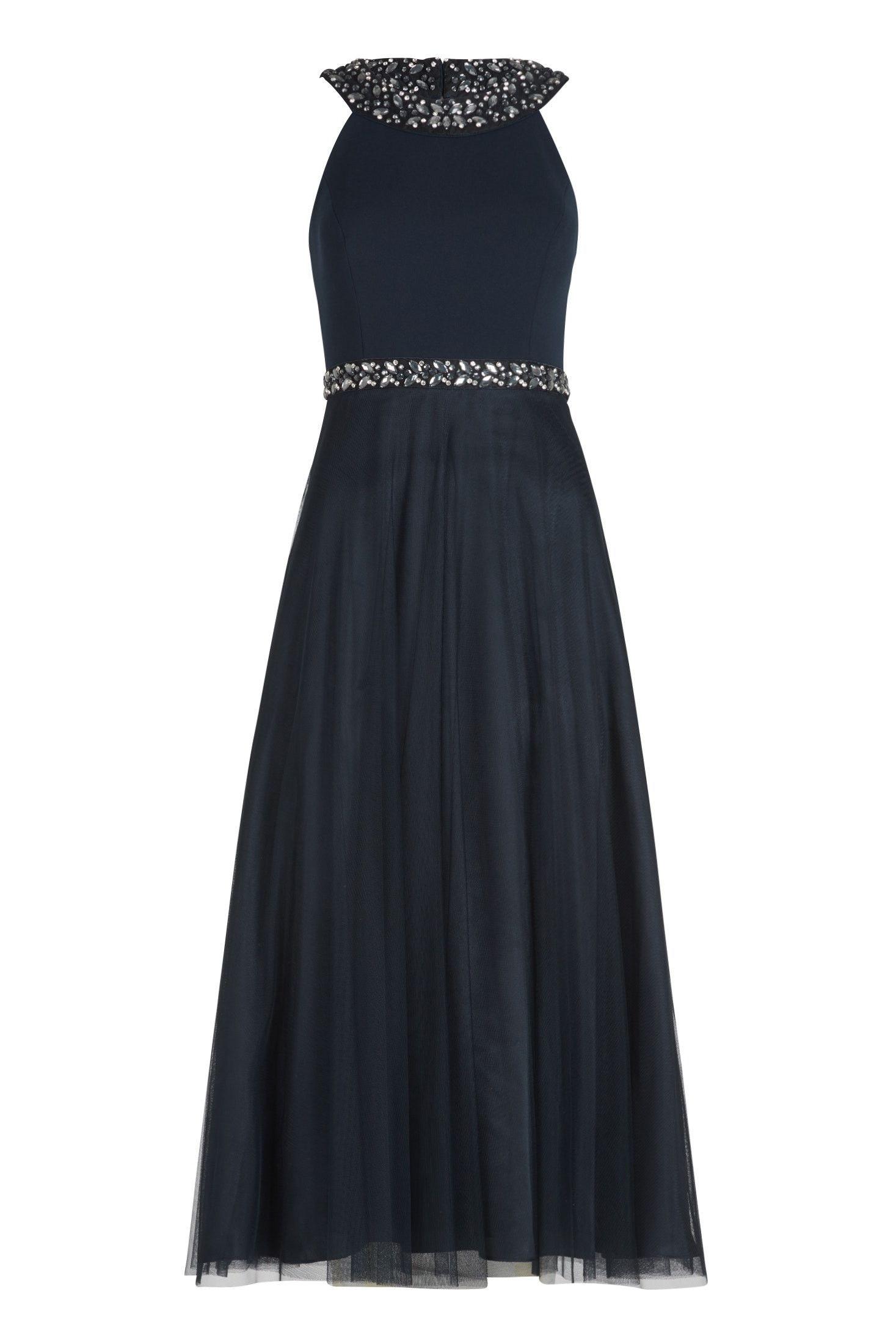 Midi Kleid mit elastischem Oberteil und feinem Tüllrock von Vera