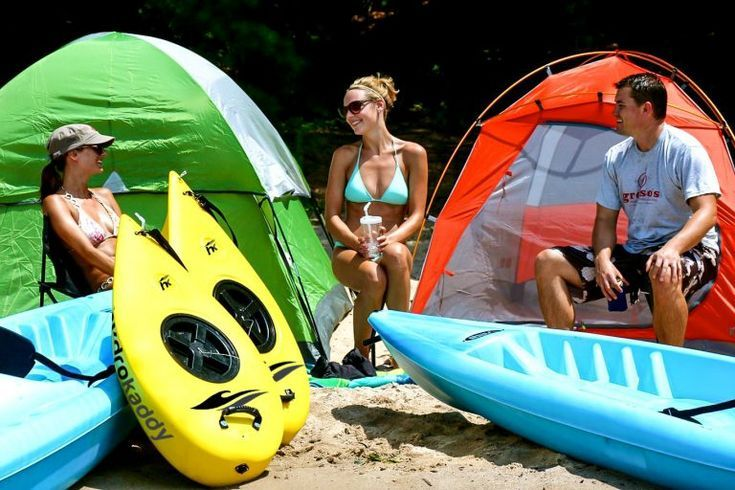Photo of The Hydro Kaddy is a versatile water sports accessory. Kayak camping. Kayak fishing