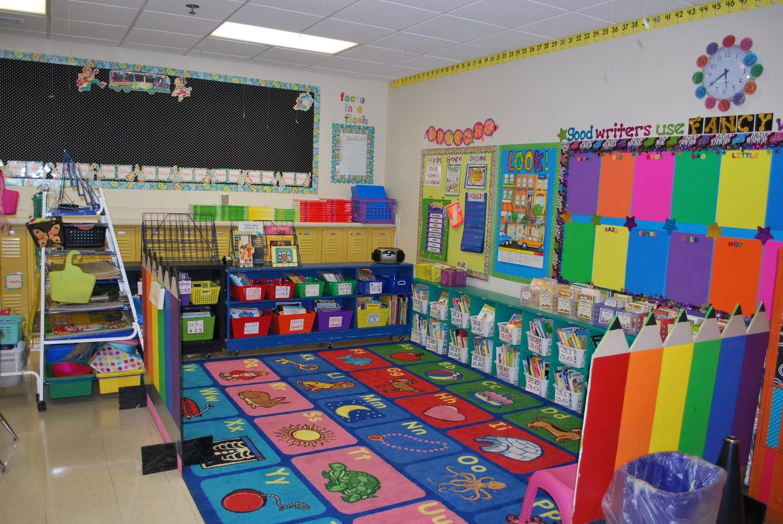 Ideas For Classroom Decoration Kindergarten : Love the use of color classroom decor pinterest