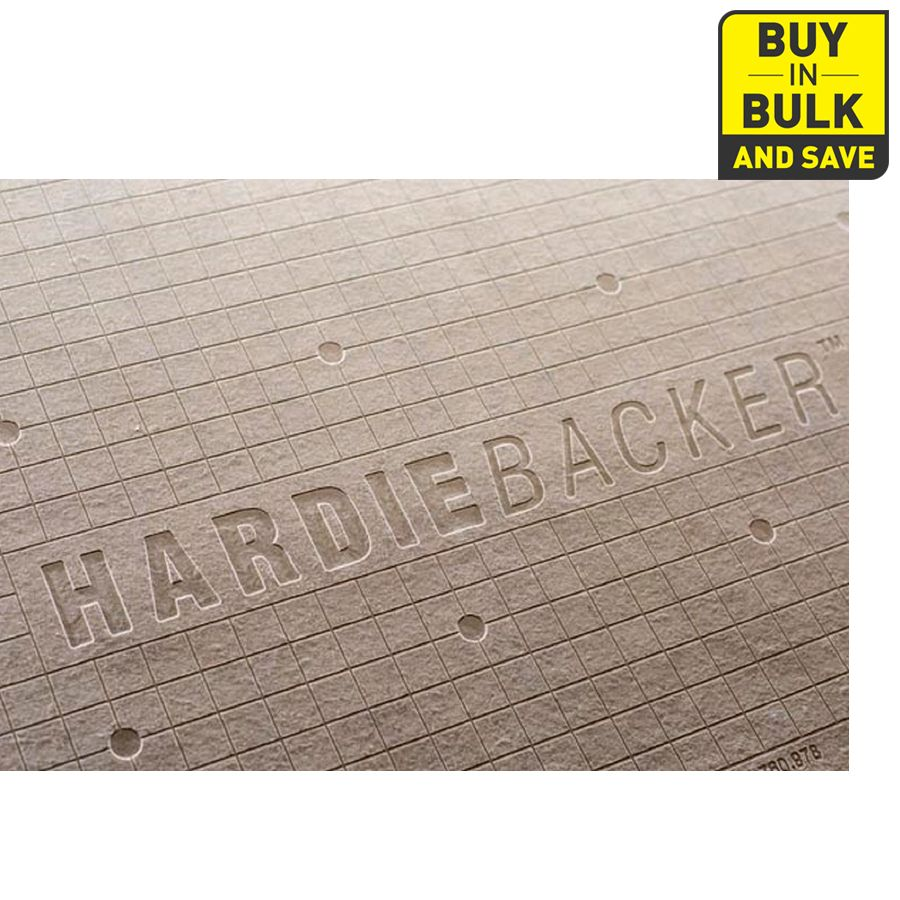 James Hardie HardieBacker 0.25-in x 36-in x 60-in Fiber Cement ...