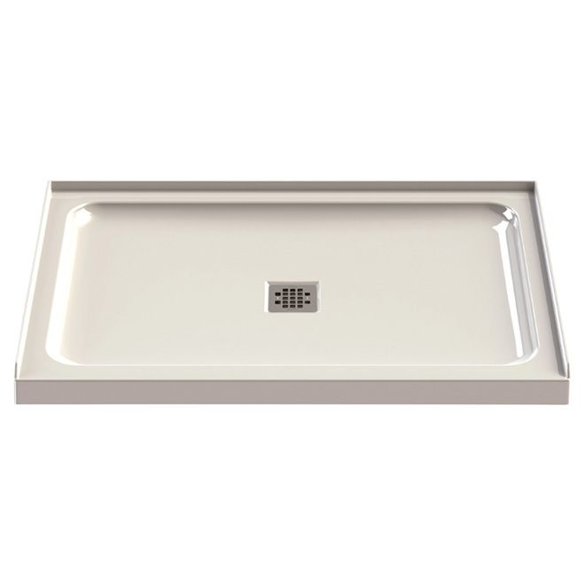 Maax Shower Base Acrylic Center Drain 48 X32 White