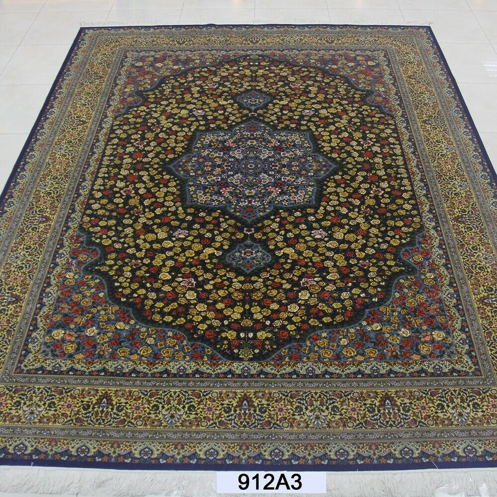 Yilong 9 X12 Handknotted Silk Carpet Allergy Friendly Home Decor Floral Rug Us 25 000 Floral Rug Warm Home Decor Warm Modern Kitchen