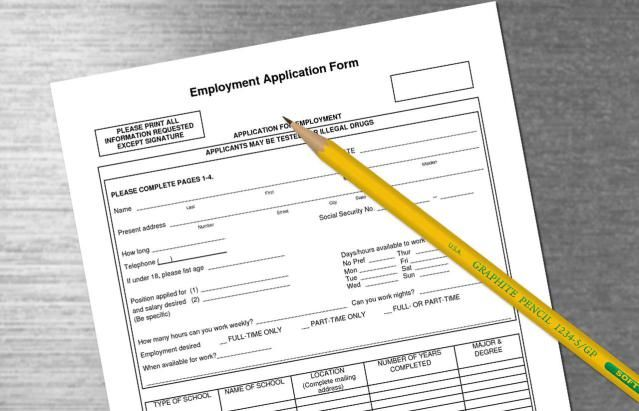 Review A Job Application Form Sample