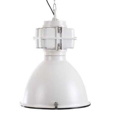 Hanglamp Industry wit met glasplaat. Aanbieding bij Het Kabinet.