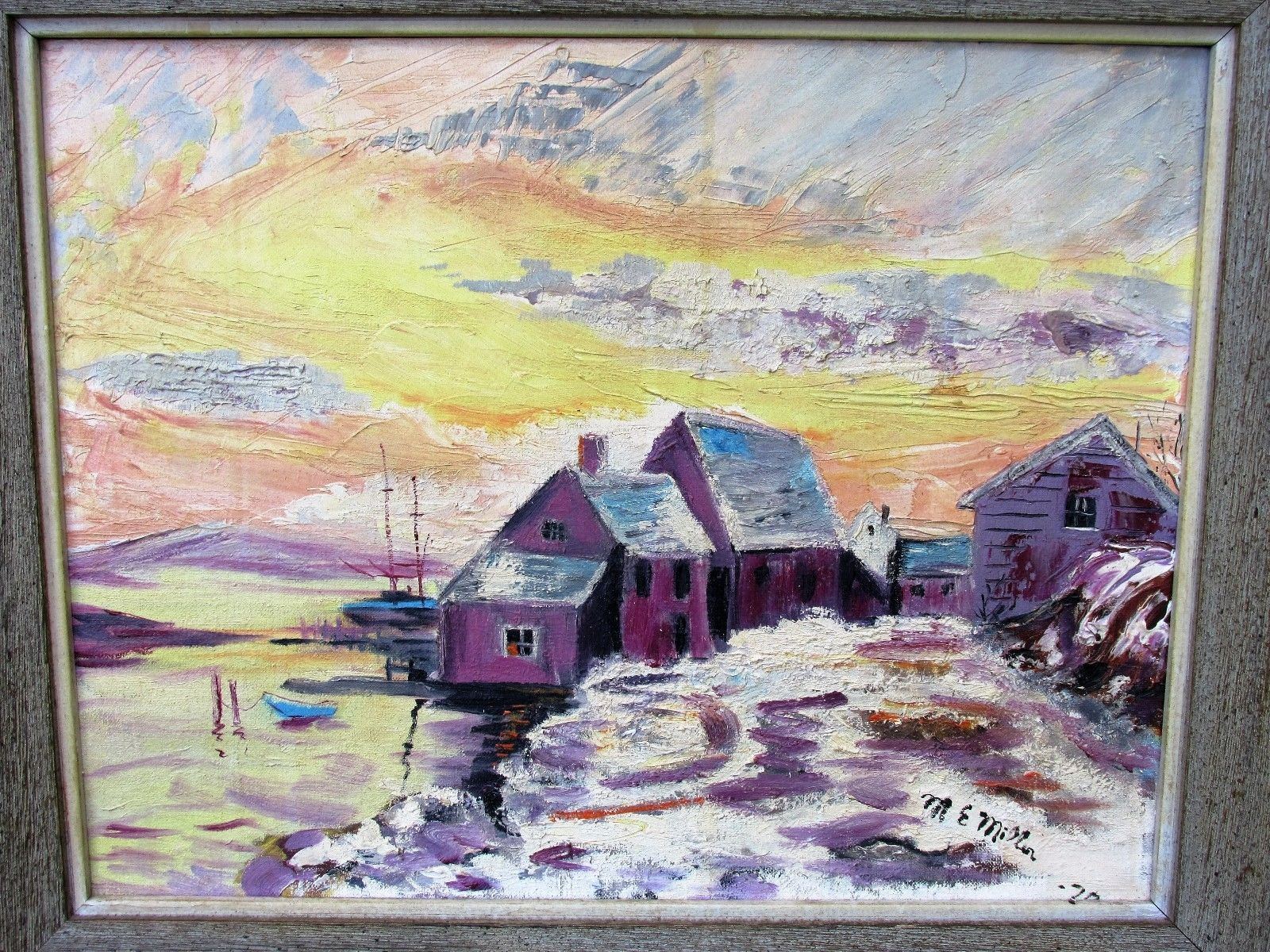 Vintage Oil Painting on Canvas Board Serene Harbor Scene at Twilight Signed https://t.co/QvNmvoUYCb #Homedecor https://t.co/kibygB5vaO