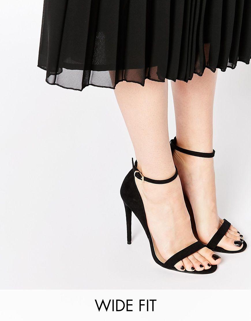 12487bbfe8b ASOS HONEY Wide Fit Heeled Sandals