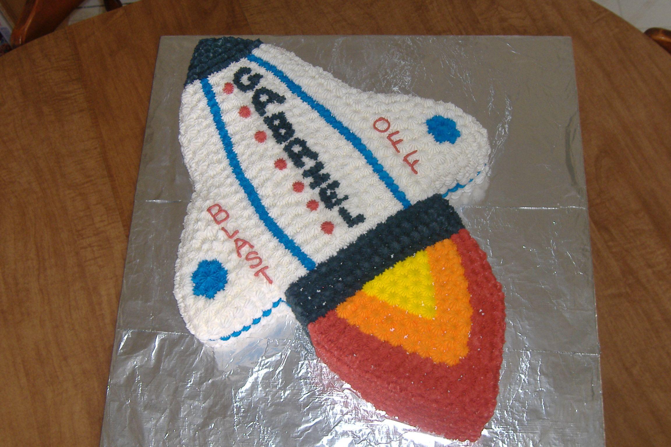 Rocket cake rocket cake rocket party rocket ship cakes
