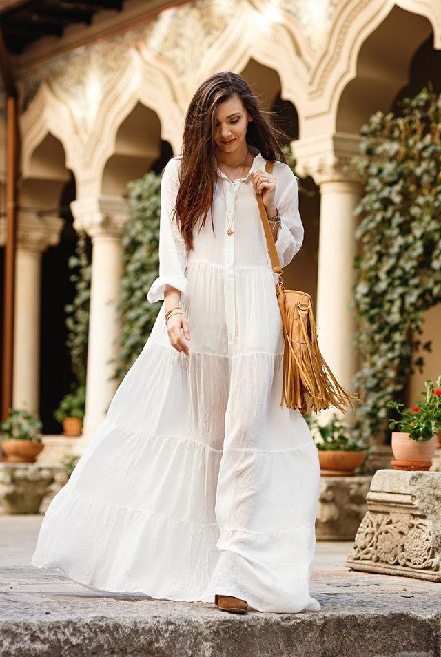 muy elogiado retro ventas calientes Tendencias primavera: Vestido blanco. Lo Mejor de Street ...