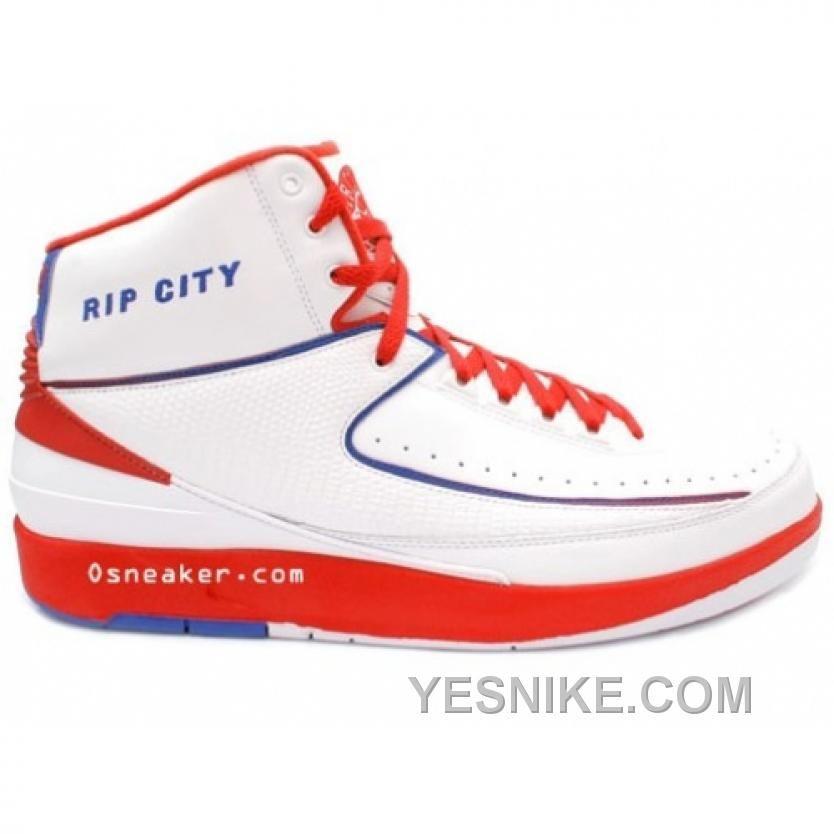 promo code 1e3b3 d6bd6 ... Free Shipping 6070 OFF Air Jordan II Rip City Richard Hamilton PE White  Blue