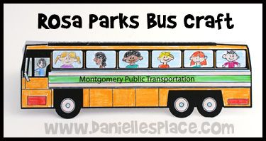 Rosa Parks Standup Bus Craft For Martin Luther King Jr Day From