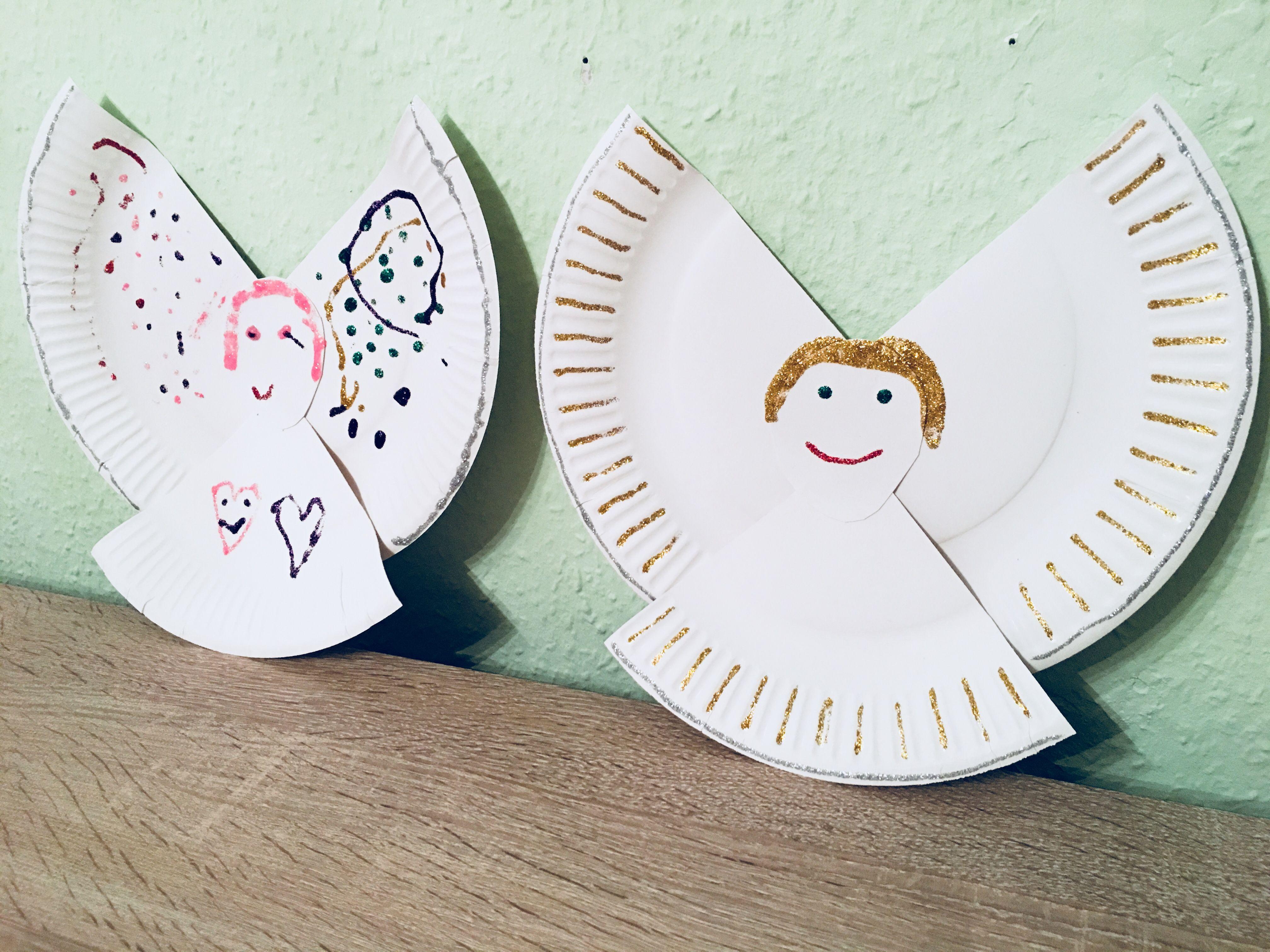 Engel Aus Pappteller - Basteln Mit Kindern