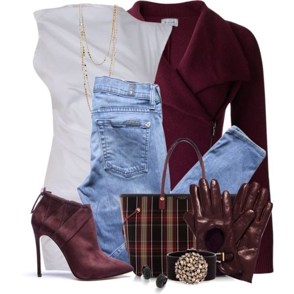 """CranberryCoat"" by hollyhalverson on Polyvore"