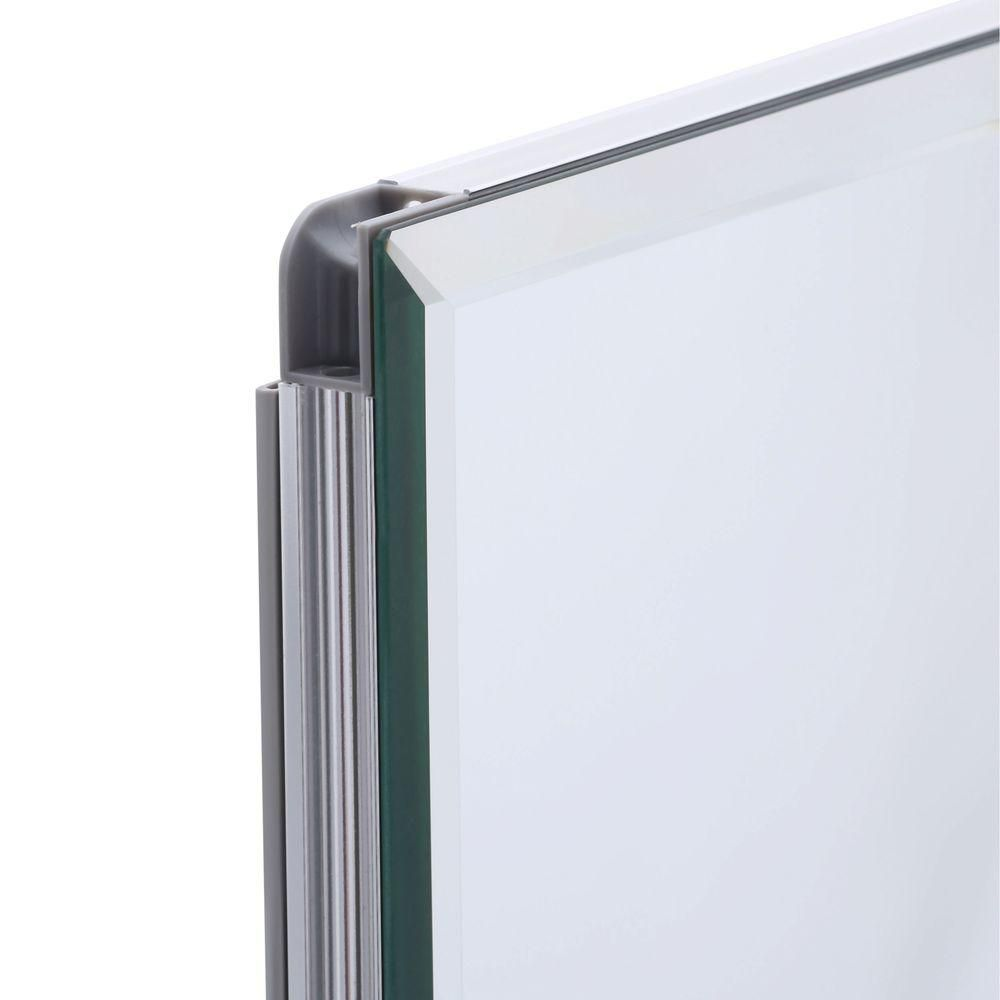 Pegasus 48 In W X 26 H Frameless Recessed Or Surface Mount Tri View Bathroom Medicine Cabinet With Beveled Mirror