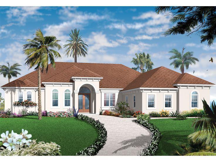 027h 0380 Ranch Mediterranean House Plan 2901 Sf Mediterranean Style House Plans Mediterranean Homes Exterior Spanish Style Homes