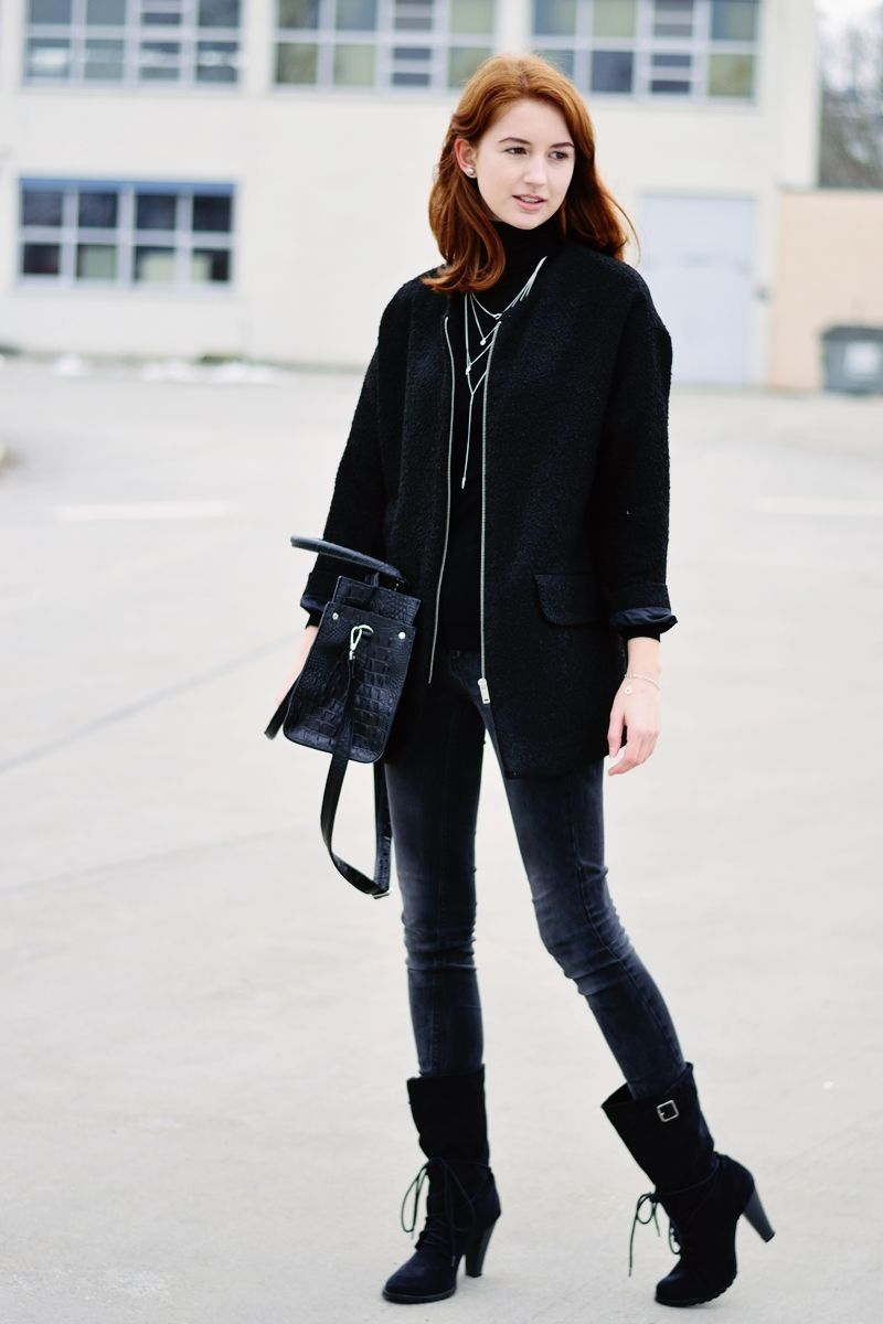 Casual in #black- check out my new #outfit on the #blog - www.modewahnsinn.de