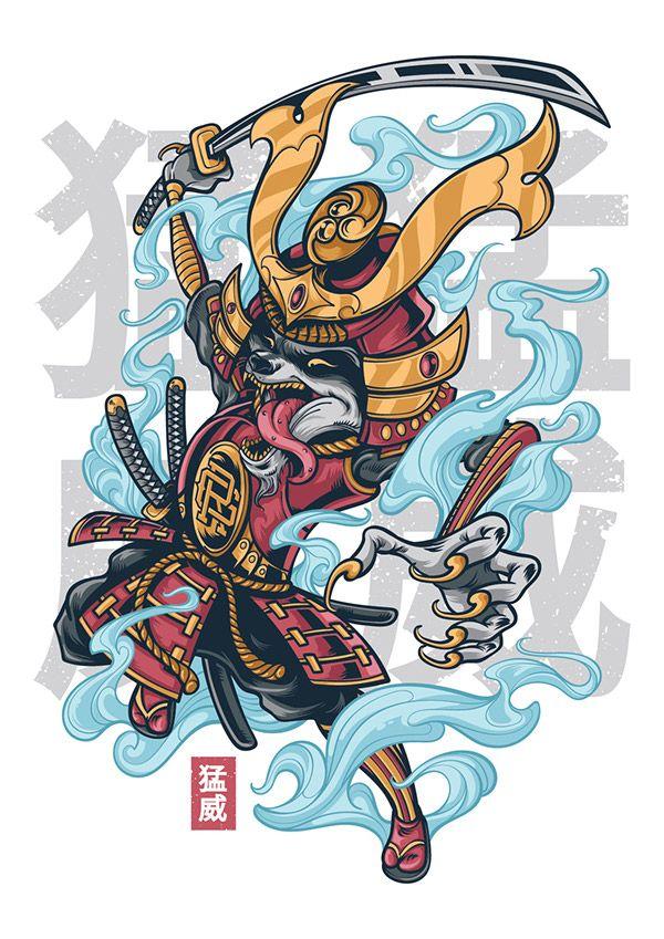 rage raccoon on behance  japanese tattoo art samurai art
