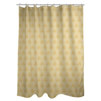 East Urban Home Classic Minimalist Tree Single Shower Curtain