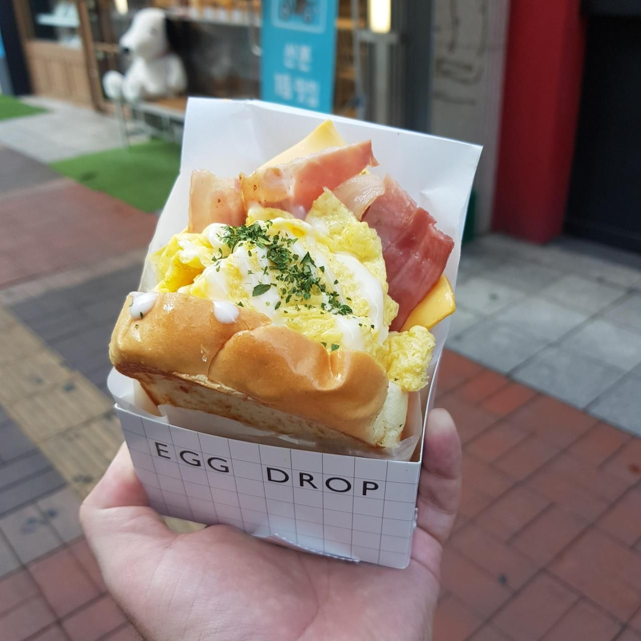 I Ate A Korean Premium Egg Sandwich Bacon Double Cheese Food Recipes Reddit Sandwich Summer Cafe Food Food Food Shop