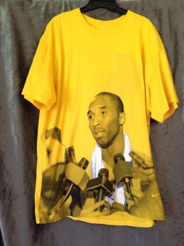 T Kobe Yellow Mens Tee Bryant Jerseys Shirt Xl Nike Size Interview 7Iwx5ZY